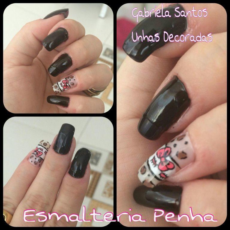 #UnhasDecoradas filha unica #Laço #NailArt #GabrielaSantosUnhasDecoradas manicure e pedicure