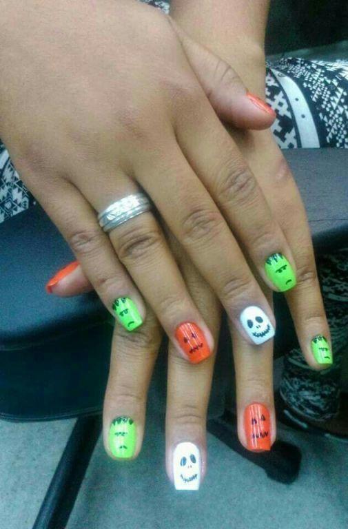 #UnhasDecoradas #Halloween #NailArt  #GabrielaSantosUnhasDecoradas manicure e pedicure