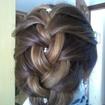 Trança em cabelo curto com mechas
