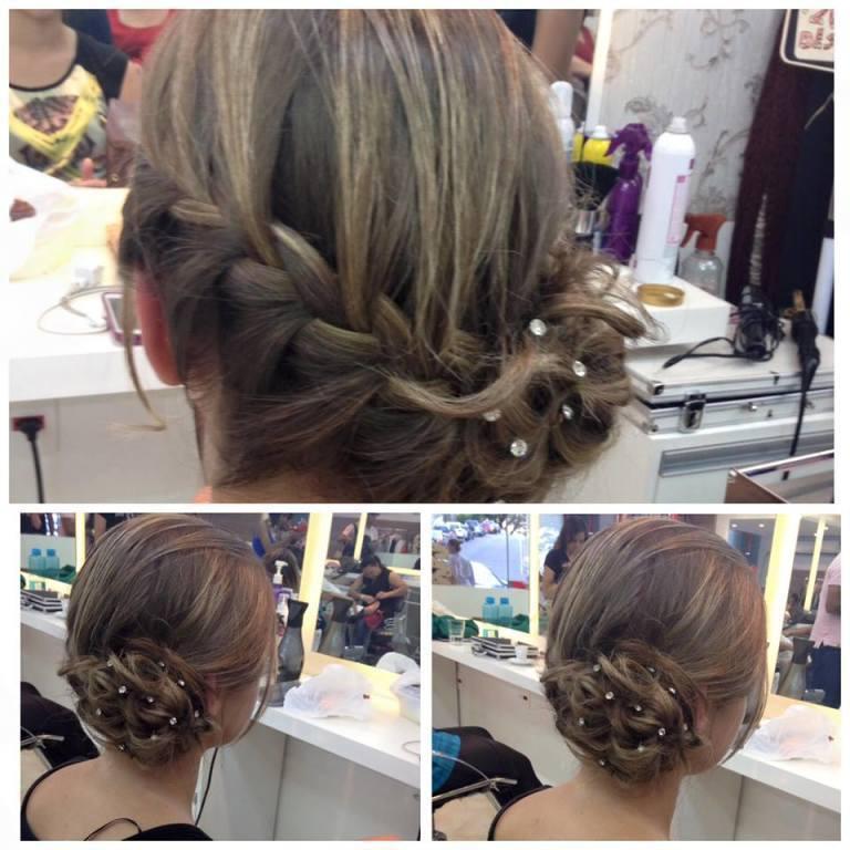 penteado preso, coque, trança, formatura, casamento, festa cabelo  cabeleireiro(a) maquiador(a)