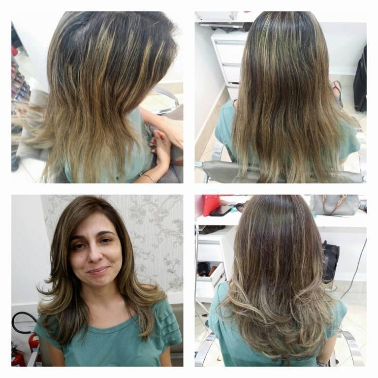 mechas, luzes cabelo  cabeleireiro(a) maquiador(a)
