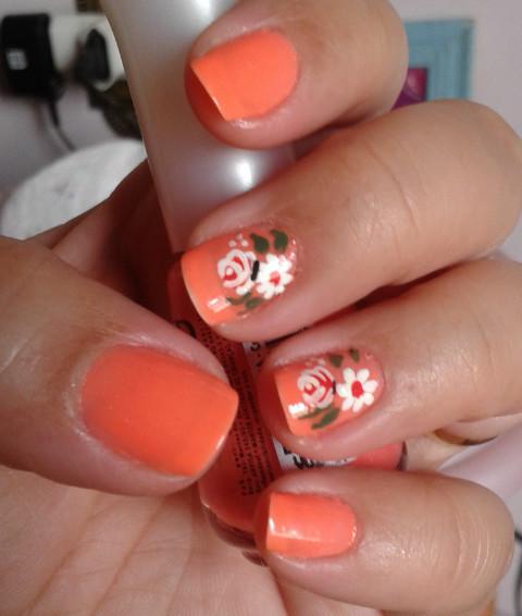 unha decorada, nail art, floral, flor,  unhas