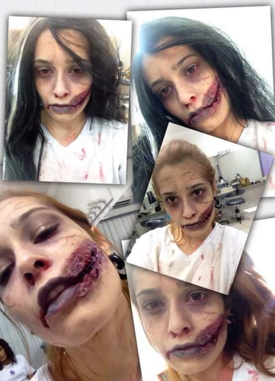 Maquiagens artísticas #zumbi #terror #halloween