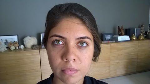 Antes Marcela designer de sobrancelhas maquiador(a)