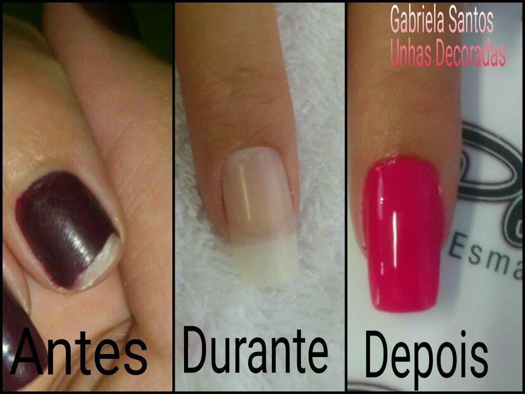 Unha Recuperada #UnhasPostiça #GabrielaSantosUnhasDecoradas manicure e pedicure