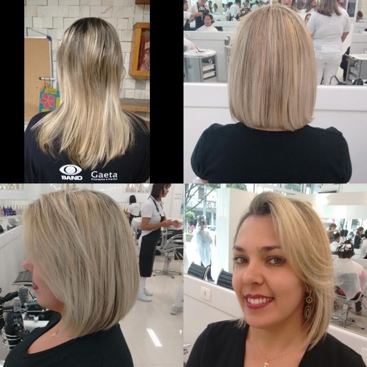 Corte e tratamento Pós Química L'oreal Profissionel auxiliar cabeleireiro(a)
