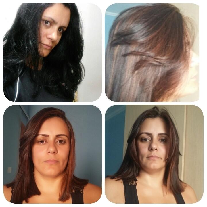 Corte e clareamento do cabelo que estava Preto.....  micropigmentador(a) maquiador(a) cabeleireiro(a) designer de sobrancelhas