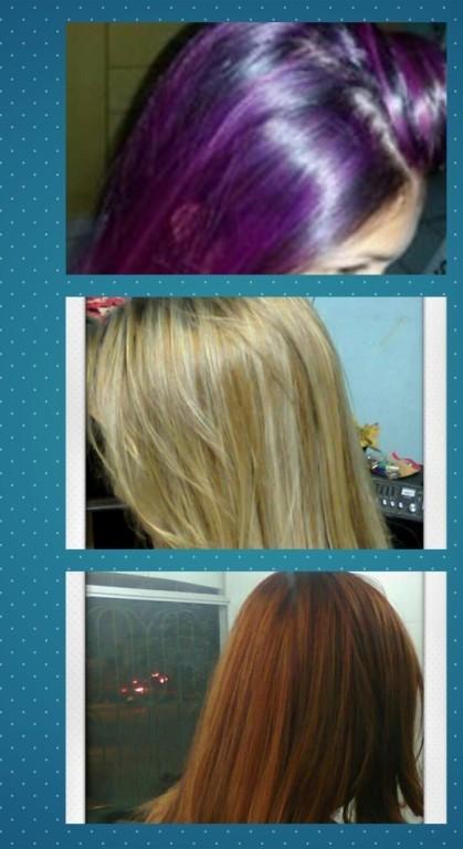 Mechas tonalizadas versões fashion ,loiras e ruivas acobreadas. cabeleireiro(a)