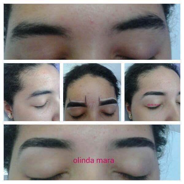Designer de sobrancelhas totalmente natural sem lapis  designer de sobrancelhas maquiador(a) depilador(a) micropigmentador(a) dermopigmentador(a)