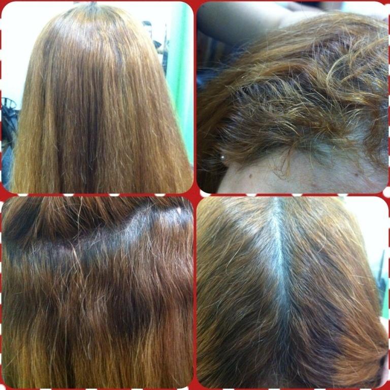 Antes do redutor de verniz. cabeleireiro(a) maquiador(a)