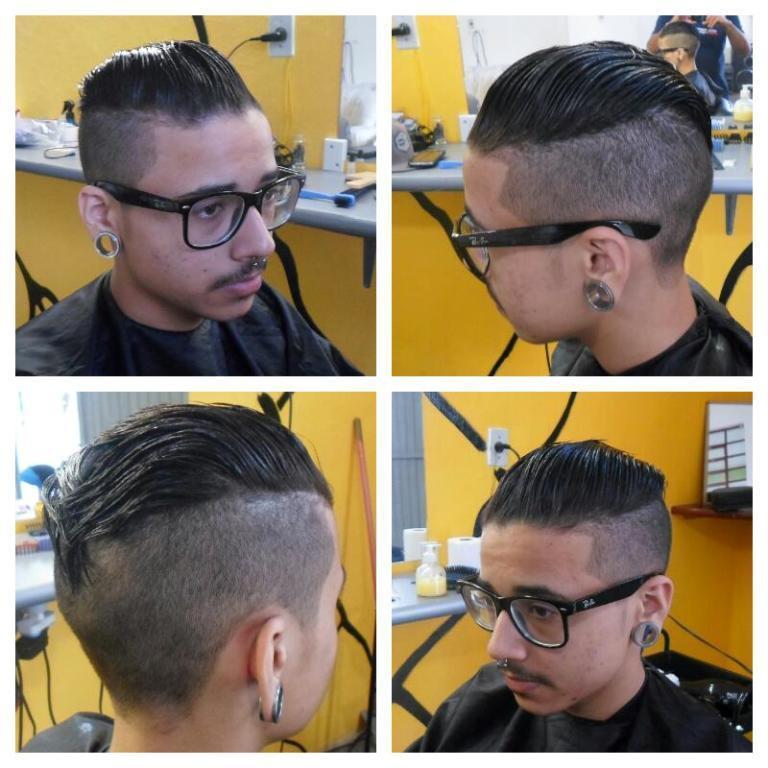 Relaxamento e feito o corte undercut barbeiro(a)