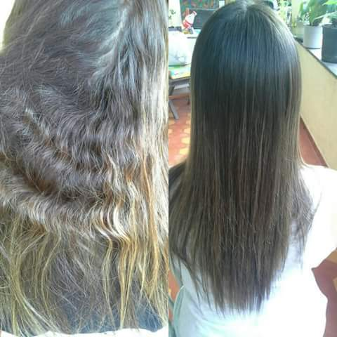 Progressiva antes e depois de lavado. .. auxiliar cabeleireiro(a) telemarketing manicure e pedicure