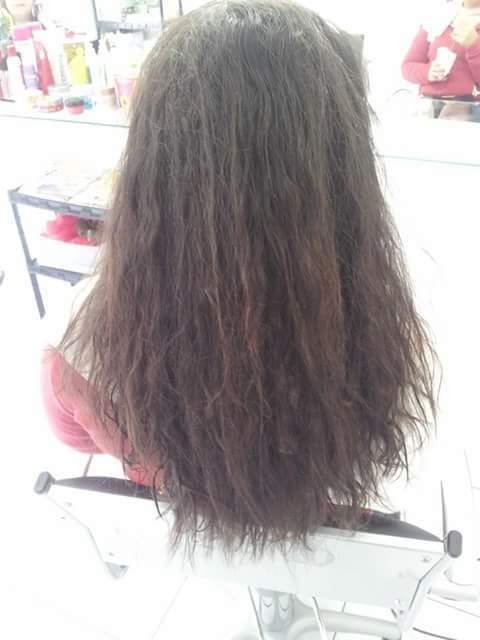 Antes da progressiva cabeleireiro(a)