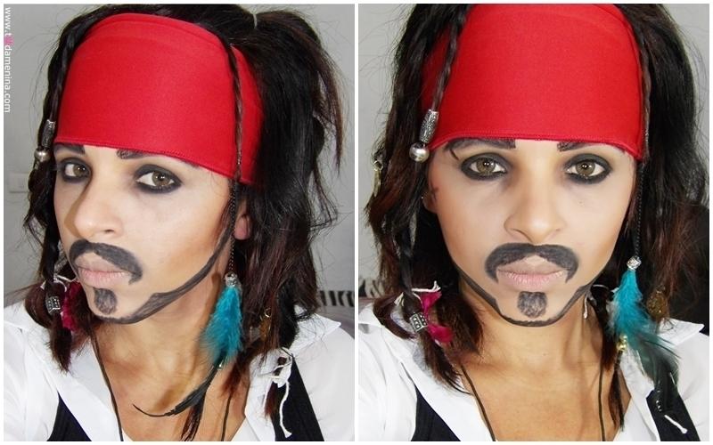 Maquiagem artística  inspirada no Capitão Jack Sparrow do filme Pirata do Caribe. #Maquiagem #inspiração #jacksparrow #piratasdocaribe #makeup maquiador(a) cabeleireiro(a)