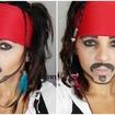 Maquiagem artística  inspirada no Capitão Jack Sparrow do filme Pirata do Caribe. #Maquiagem #inspiração #jacksparrow #piratasdocaribe #makeup