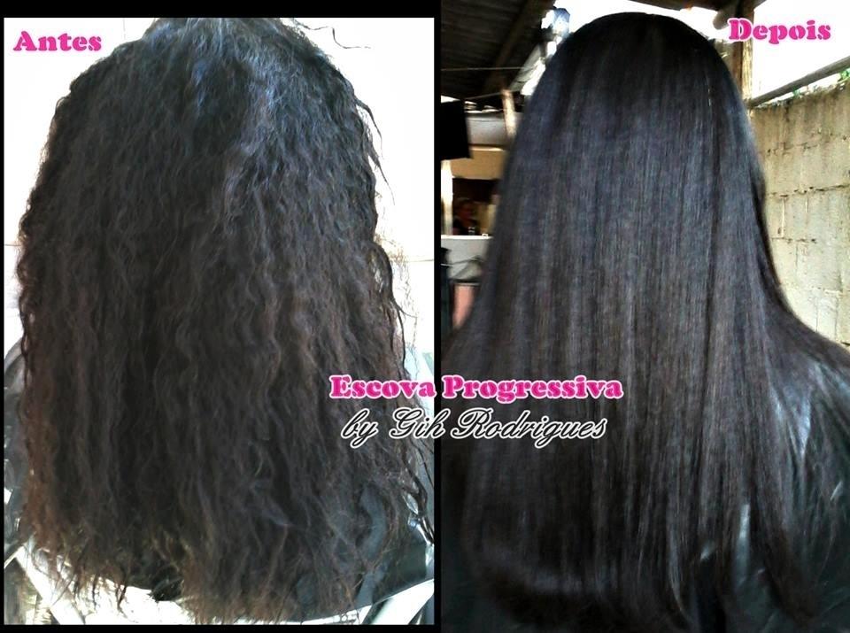 Antes e Depois - Escova Progressiva  * Atendimento domiciliar  #escovaprogressiva #ghair #cabeloliso  maquiador(a) cabeleireiro(a)