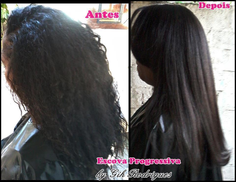 Antes e Depois - Escova Progressiva * Atendimento em domicílio.  #escovaprogressiva #cabelos #hair #cabelosalisados #escovaalisadora maquiador(a) cabeleireiro(a)