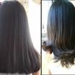Antes e Depois - Corte + Escova  #cabelos #corte #cortefeminino #hair #cut #cabelorepicado #cabelocombalanço