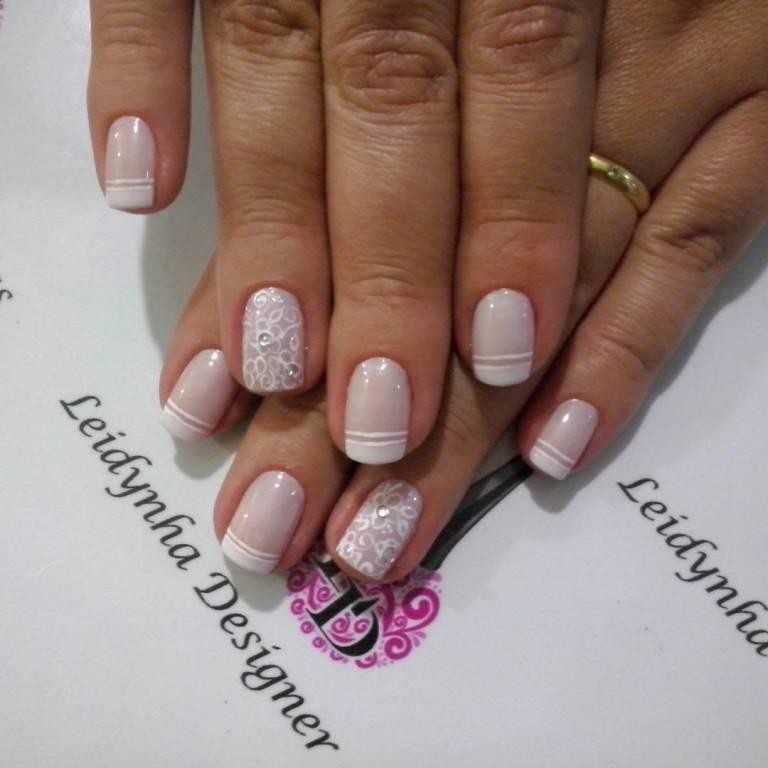unhas para noivas #noivas #unhasdelicadas #unhasdaleidynha manicure e pedicure