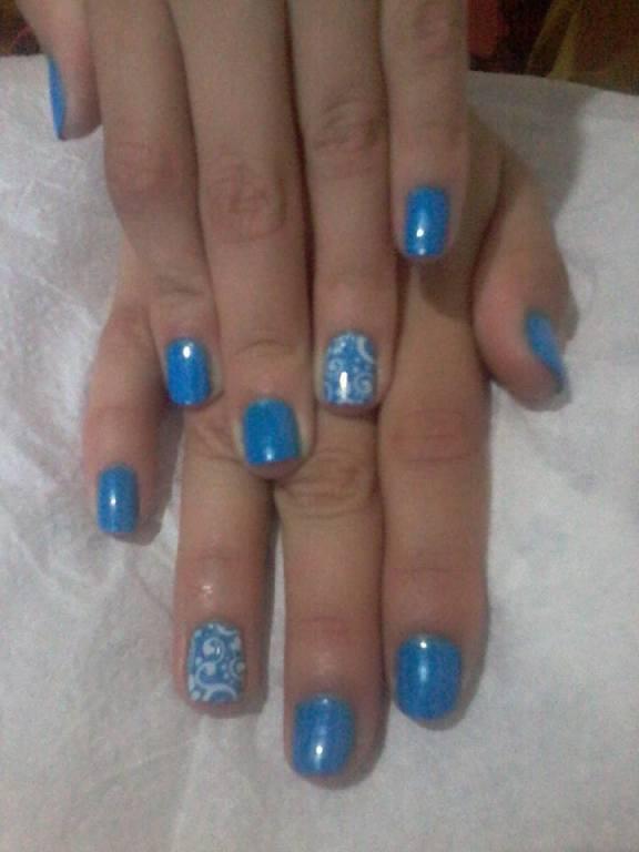 Azul skysky lindo. 💅💅💅  unha manicure e pedicure