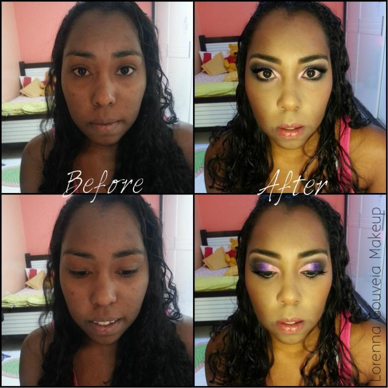 Before & After. #lorennagouveiamakeup