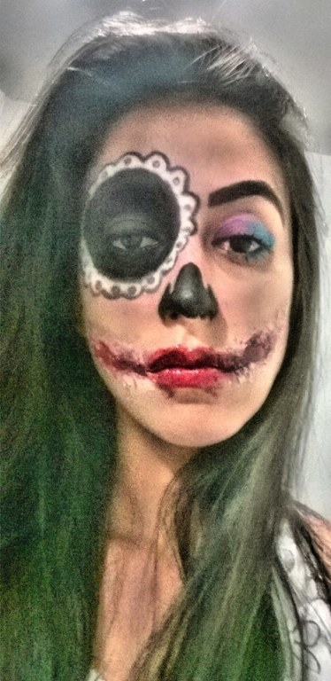 Make artístico Halloween