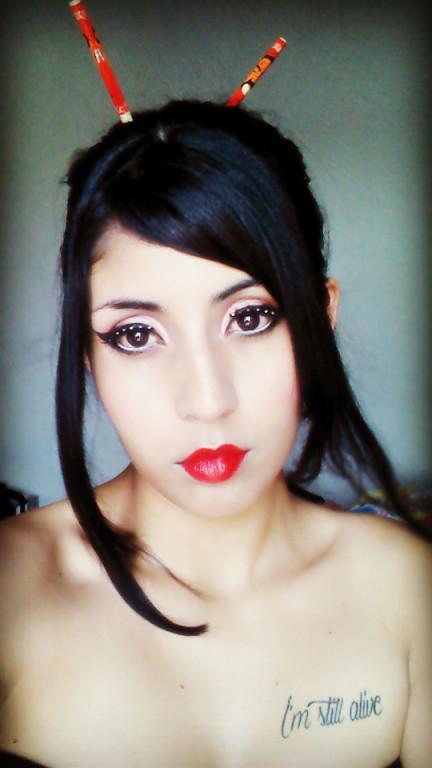 Gueixa makeup :) estudante maquiador(a) designer de sobrancelhas recepcionista