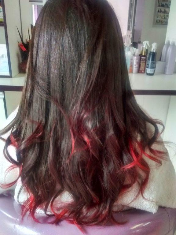 Ombre Hair Vermelho cabeleireiro(a) manicure e pedicure