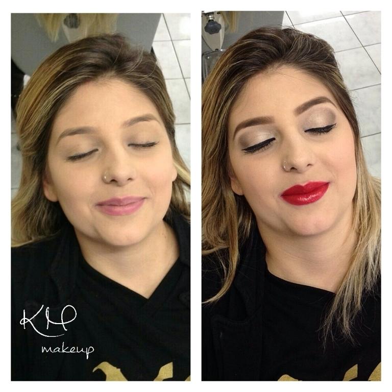 Antes e depois, uma maquiagem faz toda a diferença!!  maquiador(a) designer de sobrancelhas micropigmentador(a)