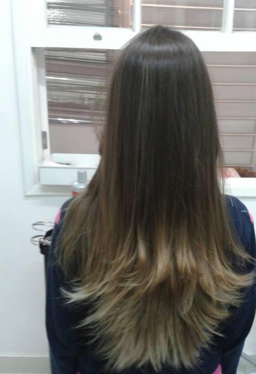 #corte #cor #loira #ombrehair  #visagismo stylist / visagista cabeleireiro(a) maquiador(a) designer de sobrancelhas