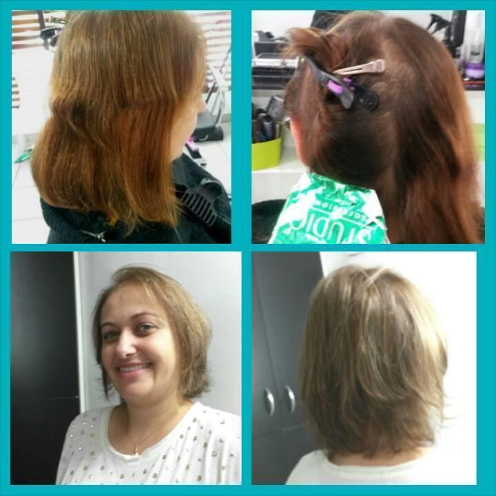 #corte #cor #loira #visagismo stylist / visagista cabeleireiro(a) maquiador(a) designer de sobrancelhas