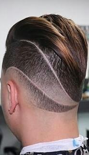 Corte com desenho 3D cabeleireiro(a) barbeiro(a)