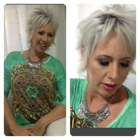 Cabelo cheio de atitude lindooo e detalhe saudavel  #Platinado cabeleireiro(a) maquiador(a)