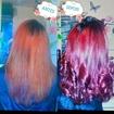 Coloração e Reconstruçao capilar  Antes e Depois