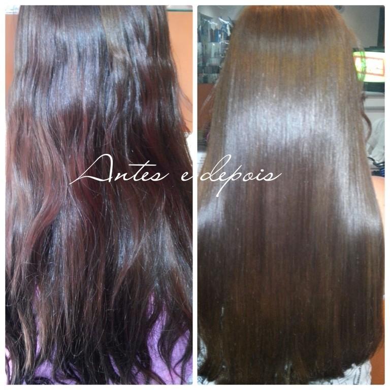 #Escova Progressiva  Antes e Depois # cabeleireiro(a)