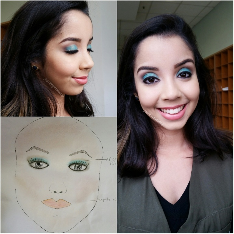 Croqui e maquiagem inspirada na coleção de Primavera-Verão 2015 de @eliesaabworld ! 💄❤ estudante (maquiador) maquiador(a)