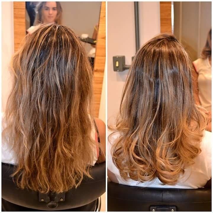 Envelopamento dos fios cabelo cabeleireiro(a)