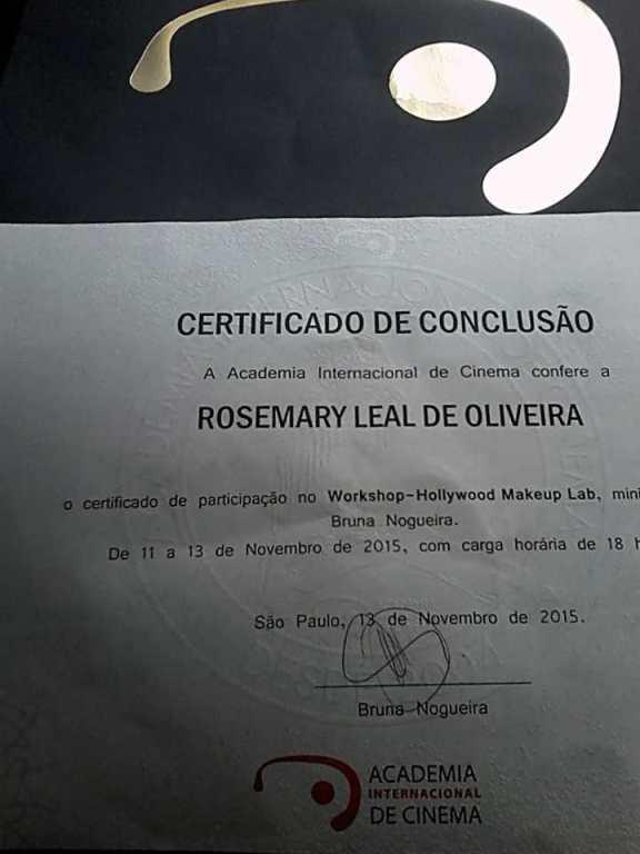 Certificação Hollywood Makeup Lab . Bruna Nogueira maquiador(a) docente / professor(a)
