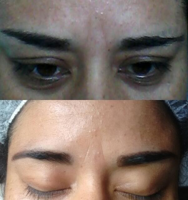 Modelagem e aplicação em Renna designer de sobrancelhas