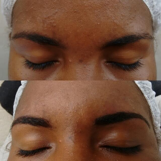 Aplicação em Renna designer de sobrancelhas