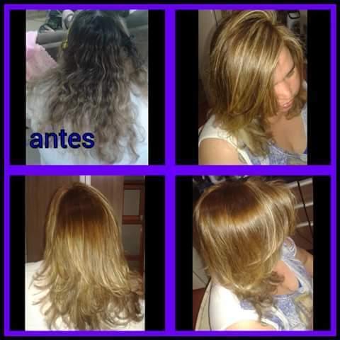 Suavizando a raiz+ ombré+corte+escova. cabeleireiro(a)