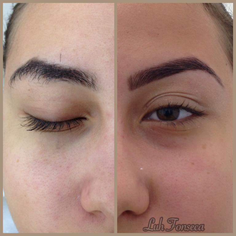 Design, desondulação dos pelos, aplicação com Henna castanho médio e castanho claro. designer de sobrancelhas depilador(a)