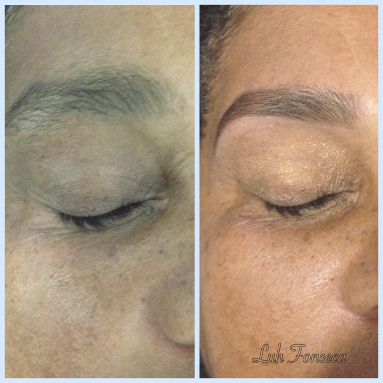 Design, limpeza dos pelos com linha e pinça. Aplicação com Henna castanho médio, para um resultado bem natural. designer de sobrancelhas depilador(a)