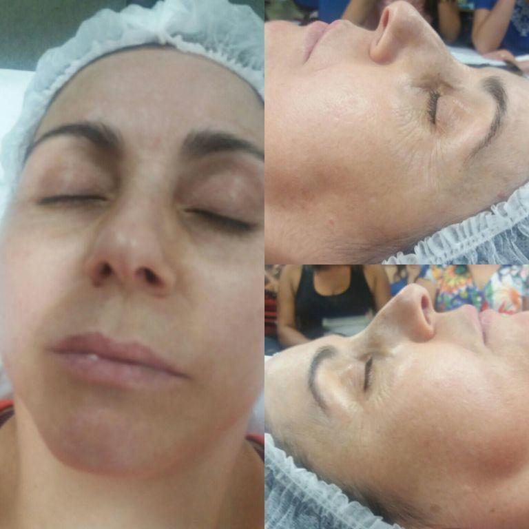Work shop da Polla Rennon ...protocolo clareamento. maquiador(a) designer de sobrancelhas