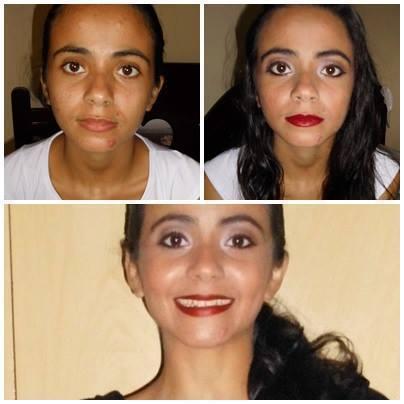Essa é minha irma estava testando produtos novos nela  consultor(a) maquiador(a)