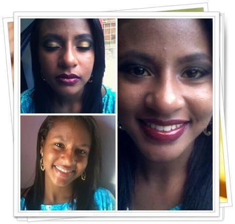 Minha amiga, pedi a ela pra ser minha cobaia rs consultor(a) maquiador(a)