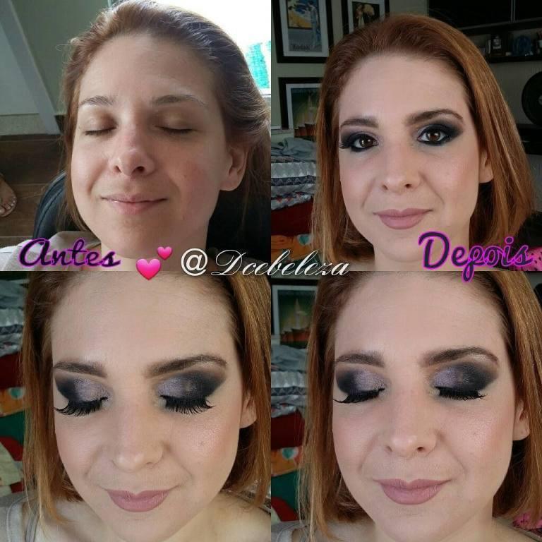 Antes e depois  Maquiagem para madrinhas  #dcebeleza#makeup#maquiagem#clientes#make# maquiador(a)