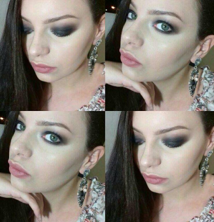 Auto maquiagem, olhão preto, sonho de toda mulher <3 #maquiagem #olhopreto #makeup #nude #bocanude maquiador(a)