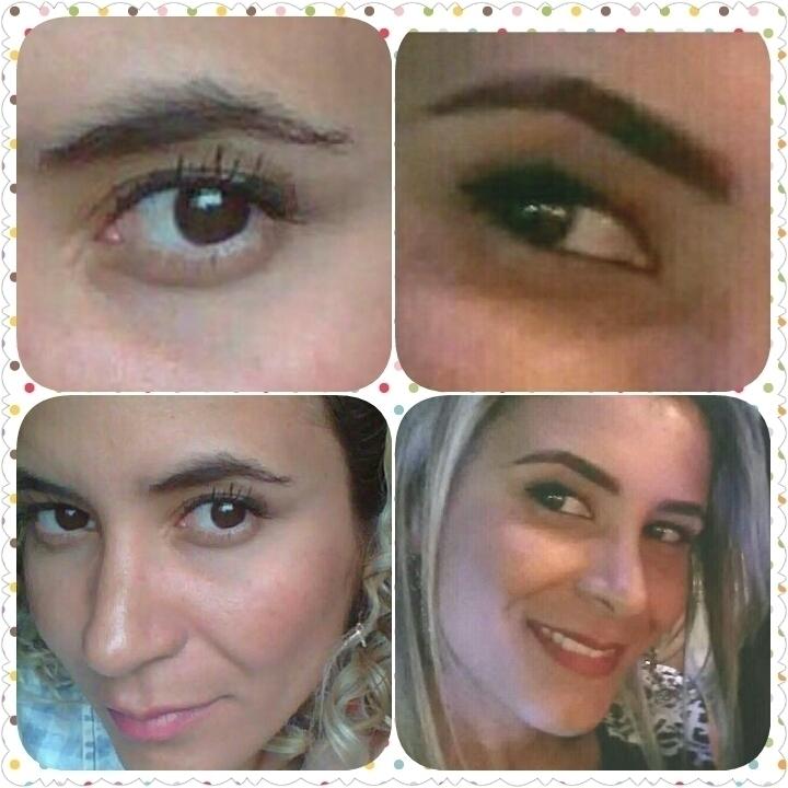 Sobrancelha com Rena antes e depois esteticista