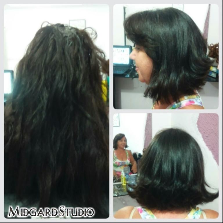 Corte graduado  cabeleireiro(a) maquiador(a) designer de sobrancelhas
